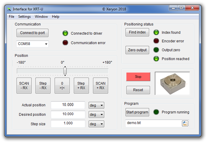 Software interface for XRT-U