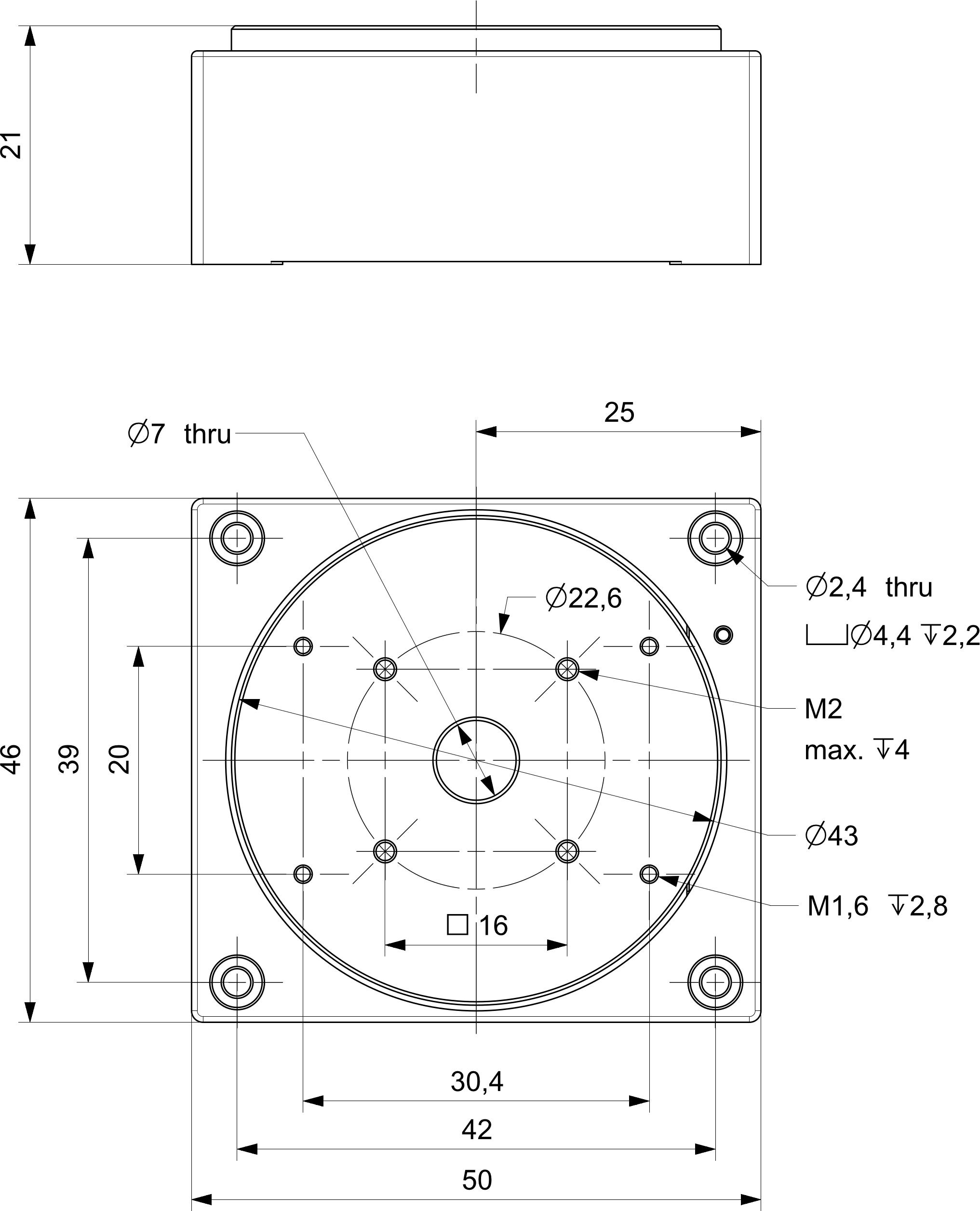 xrt-u 40 rotation stage dimensions