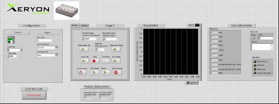 Xeryon Labview screenshot